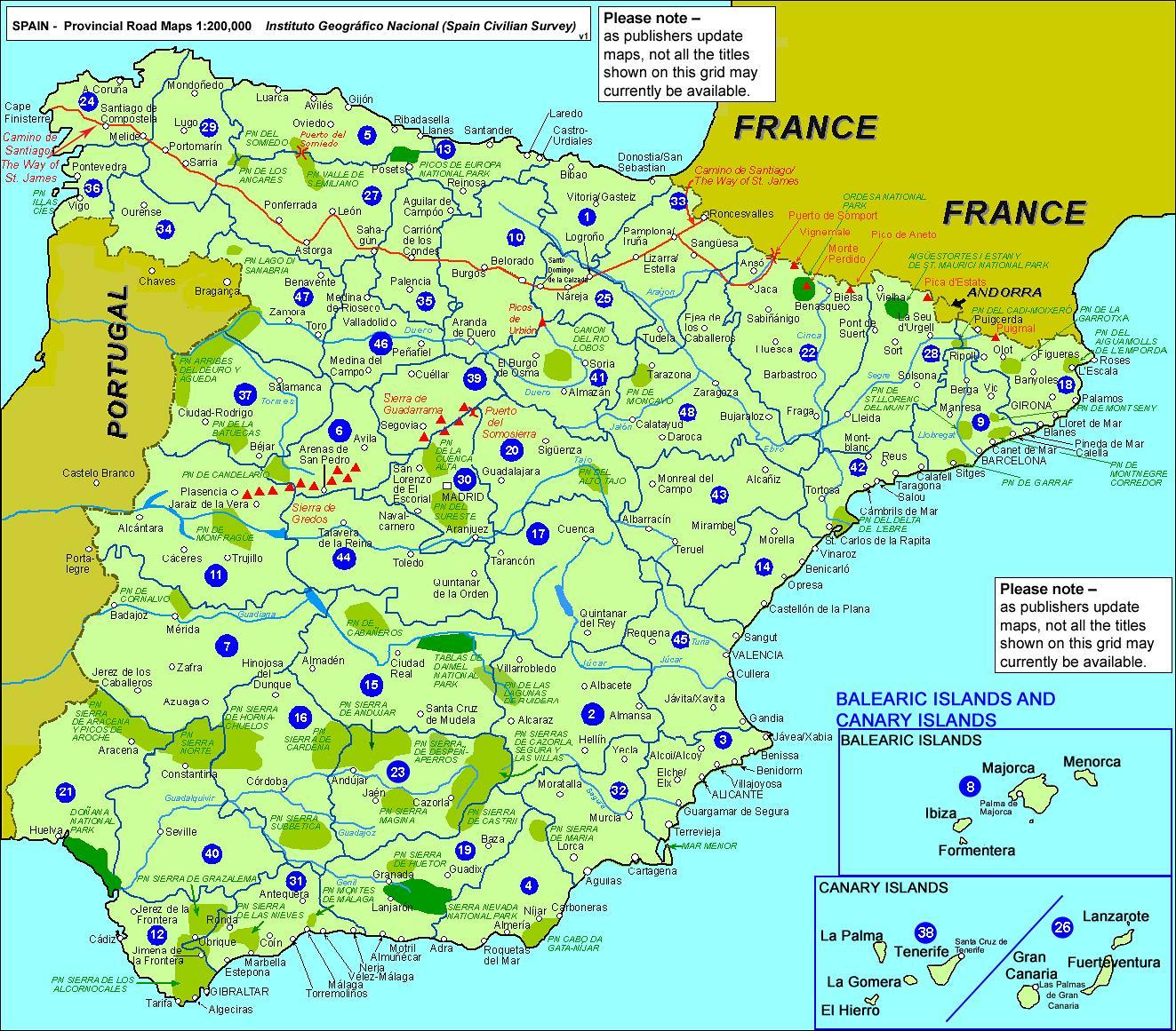 Cartina Della Spagna Del Sud.Mappa Della Spagna Cartina Della Spagna Continentale Europa Del Sud Europa