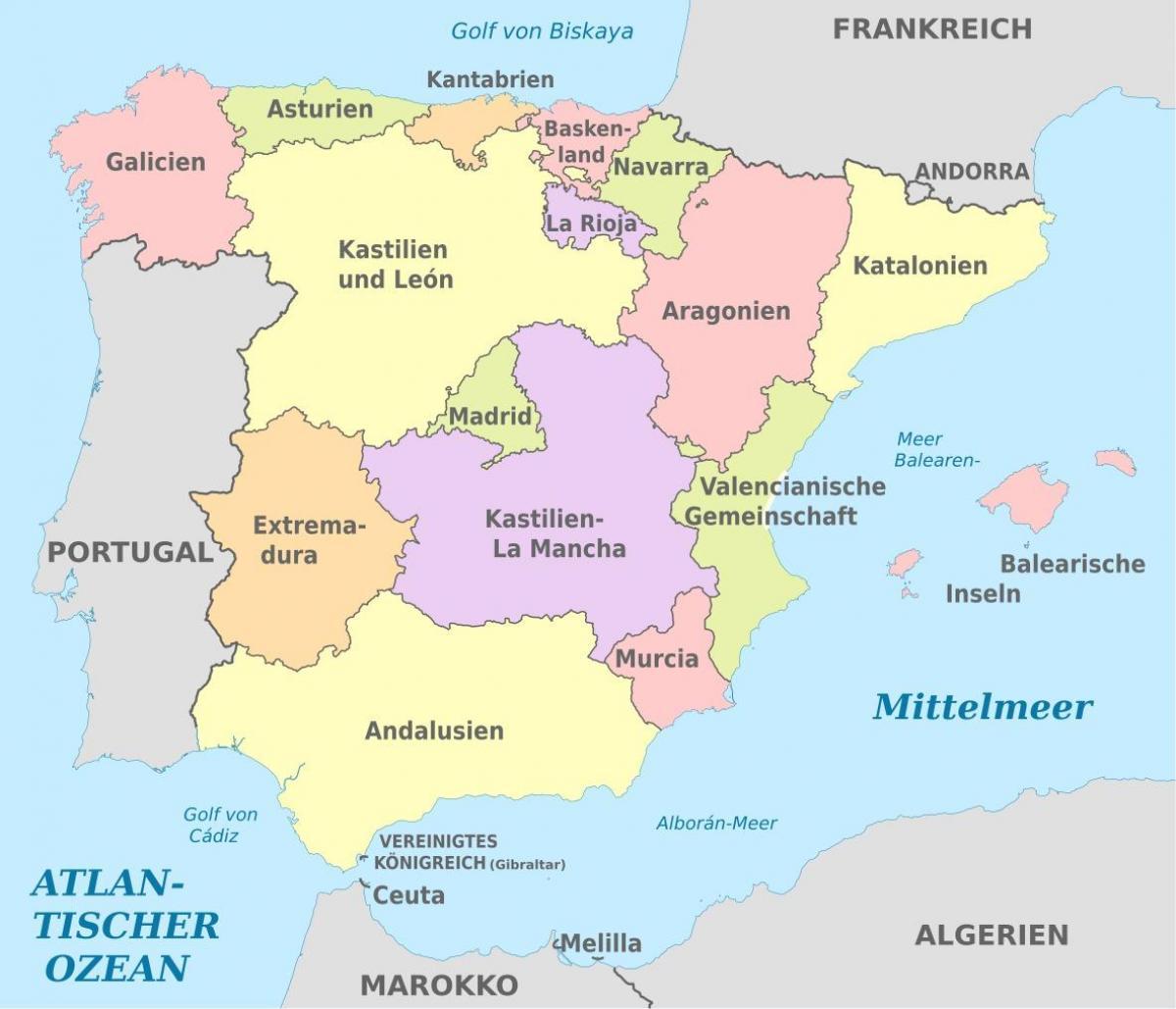 Immagini Della Cartina Della Spagna