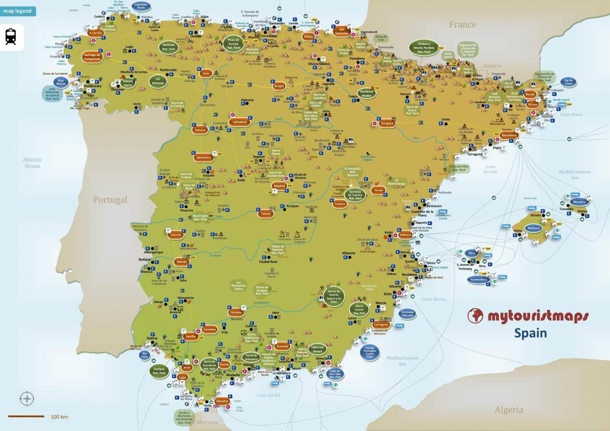 Cartina Mondo Ikea.Spagna Cartina Citta