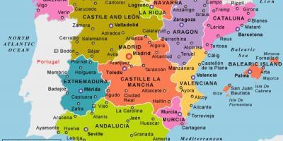 Cartina Muta Della Spagna Da Completare.Spagna Mappa Mappe Spagna Europa Del Sud Europa