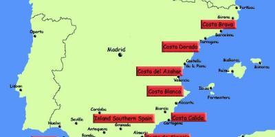Cartina Geografica Spagna Costa Brava.Spagna Trasporti Sulla Mappa Mappa Della Spagna Trasporti Europa Del Sud Europa