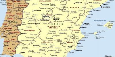 Mappa Spagna Orientale.Mappa Della Costa Orientale Della Spagna Cartina Dettagliata Della Costa Orientale Della Spagna Europa Del Sud Europa